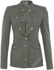 McQ by Alexander McQueen Khaki Long Sleeve Military Jacket-S/US6/UK10/IT42