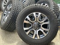 "4X Genuine FORD WILDTRAK RANGER 2019 18"" WHEELS & KUMHO  275/65/18 AT TYRES!!"