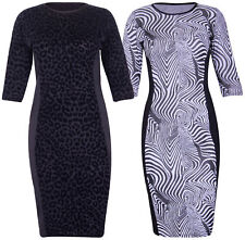 Plus Size Calf Length Stretch, Bodycon Dresses for Women