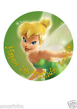 "Tinker Bell Disney Cake Topper Party Personalized Edible Wafer Paper 7.5"" img a9"