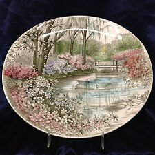 """JOHNSON BROTHERS ENGLISH GARDENS GREEN MULTI COLOR DINNER PLATE 10 3/8"""""""