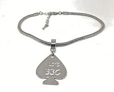 "Queen Of Spades Lifestyle Jewelry Cuckold ""I Love Bbc Spade Anklet"" Hotwife Qos"