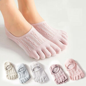 5 pairs socks women cotton ankle socks women Toe Socks Finger sock cute net mesh