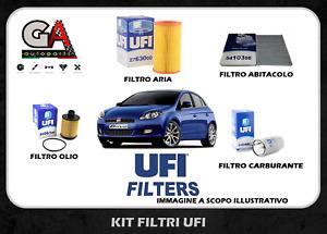 Kit 4 filtri tagliando FIAT BRAVO II 2 198 1.6 Multijet mtj Originali UFI
