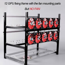 12 GPU Stackable Open Air Mining Rig Aluminium Frame Miner Case For ETC ETH ZEC