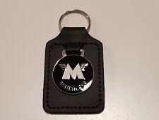 MATCHLESS MOTORCYCLE ENAMEL LEATHER KEY FOB / RING. 45015