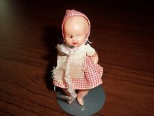 "3"" hard plastic jointed doll with sleep eyes"