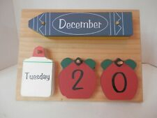 Wood Shapes Perpetual Calendar-Euc-Double Sided-Classroom-Free Shipping