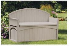 Suncast Patio Bench Storage Container Outdoor Garden Yard Furniture Deck  Porch