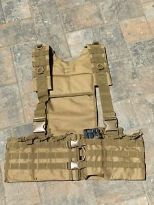 NcStar Tan Chest Rig Heavy Duty Nylon 6 Double Mag Pouch Holds 12 Magazines!