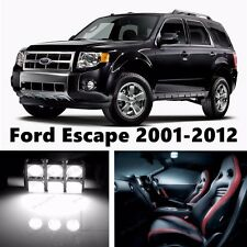 12pcs LED Xenon White Light Interior Package Kit for Ford Escape 2001-2012