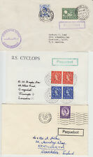 1954-65 lot of 3 x Preston Paquebot covers inc Cyclops + GPO sheet with cancels