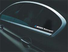 2x BMW /// M Motorsport Aufkleber Sticker E90 E60 F20 F10 F01 E70 F30 M3 X3 X5