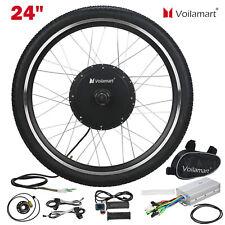 "24""Electric Bicycle Motor Conversion Kit Front Wheel E Bike Cycling Hub 48V1000W"