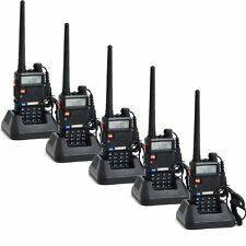 5PCS BaoFeng UV-5R DTMF CTCSS DCS FM Two-Way Radio Dual-Band 136-174/400-520 5R