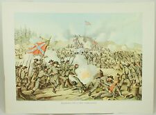 Assault on Fort Sanders Vintage Civil War Kurz & Allison Lithograph Folio Print
