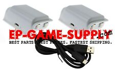 2x Xbox One S Wireless Controller Rechargeable Battery Pack + USB Cable