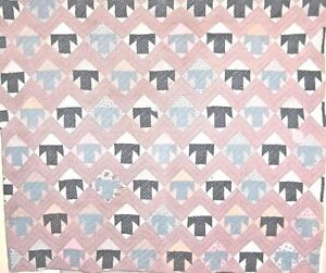 """EARLY COUNTRY """"T""""  QUILT c1890   VERY GRAPHIC"""