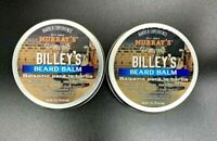 Murray's 2 Pk Billey's Beard Balm Moisturizes Shea Butter Coconut Argan Oil 2oz