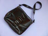 1960s Vintage Satchel, Soft Faux Brown Leather Shoulder Bag, Ladies Purse