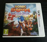 Sonic Boom Shattered Crystal Nintendo 3DS Video Game Manual PAL