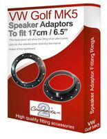 """VW Golf MK5 speaker adapter pods Front Door 17cm 6.5"""" fitting rings adaptors"""