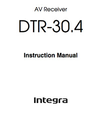 Onkyo Integra DTR-30.4 Amplifier Owners Instruction Manual 100 Page PDF Copy