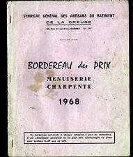 GUERET (23) SYNDICAT des ARTISANS DU BATIMENT / MENUISERIE CATALOGUE en 1968