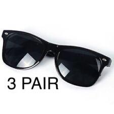 3 PAIR UNISEX Sunglasses Wayfare GEEK CLASSIC Black Frame 100% UV NEW MEN WOMEN
