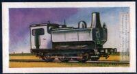 1905 Belgian Saddle Tank Locomotive Train Engine  60+ Y/O Trade Ad Card