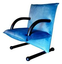 Armchair Arflex Model T-Line Design burkhard Vogtherr Years 80 Vintage - Blue