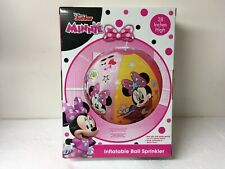 NEW Disney Junior Minnie Mouse Inflatable Ball Sprinkler 28 Inches High