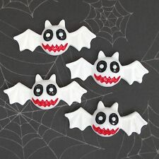 "10 pcs x 2"" Hand Painted Resin Bat Flatback Embellishments for Halloween SB234W"