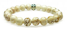 BRACELET - MAGNESITE 8mm Round Crystal Bead w/Description - Healing Reiki Stone