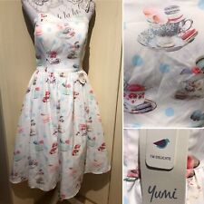 YUMI 12 *BNWT* Vintage Polka Afternoon Tea Dress Macaroon 60s Rock N Roll Retro
