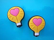 Jibbitz  Croc Clog Charm Plug Embellishment Accessorie Bracelet Light Bulb Heart