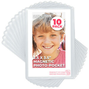 """Freez-A-Frame Magnetic Photo Frames 2.5"""" x 3.5"""" For Fuji Instax Mini Pack Of 10"""
