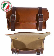 BIKE BROWN SADDLE BAG VINTAGE SEAT PACK TAIL STRAP CITY ROAD CYCLE SYNT. LEATHER