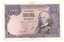 More details for 1976 spanish 5,000 pesetas banknotes 1978 issue spain (pick 155)