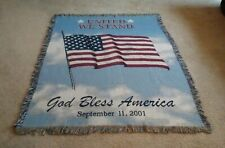 United We Stand God Bless America Throw September 11, 2001 9/11 Tapestry Afghan