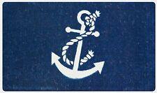 "Anchor Nautical 18"" x 30"" Coco Coir Indoor Outdoor Welcome Non-Slip Doormat"