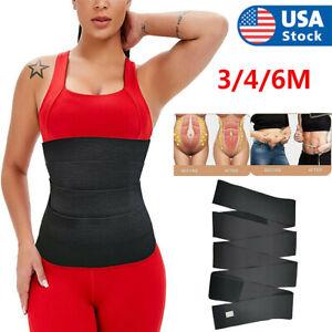 Snatch Me Up Bandage Wrap Lumbar Waist Support Sauna Belt Trimmer Body Shaper US