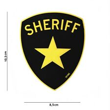 Sheriff Gelb Patch Klett Abzeichen Airsoft Paintball Tactical