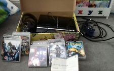 playstation 3 40G console, 11 games, 2 controls, headset...