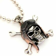 New Alchemy Gothic UL13 Death Valley Skull Rider Biker Necklace Pewter ULP38