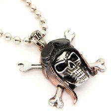 New Alchemy Gothic UL13 Death Valley Skull Rider Biker Necklace Pewter ULP38