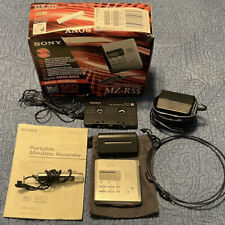 New ListingSony Mz-R55 Minidisc Recorder w/ Accessories (see Details) & Manual. Tested.