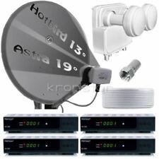 Digitale HD SAT-Anlage 4 Teilnehmer Astra Hotbird OPTICUM DVB-S2 USB Receiver