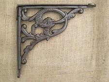 Antique Cast Iron Wall / Shelf Bracket Vintage - Serpent Design x1