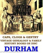Durham Genealogy Parish Registers History Topography Vintage Books on Data Disc